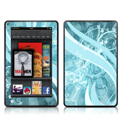 Kindle Fire Skin - Flores Agua