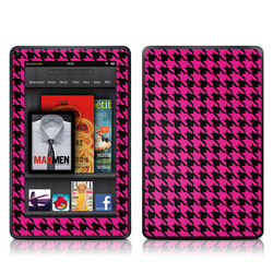 Kindle Fire Skin - Pink Houndstooth