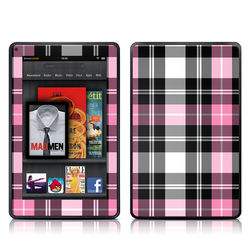 Kindle Fire Skin - Pink Plaid