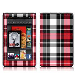 Kindle Fire Skin - Red Plaid
