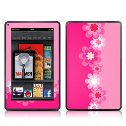 Kindle Fire Skin - Retro Pink Flowers