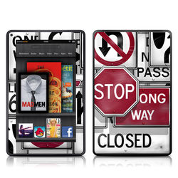 Kindle Fire Skin - Signs
