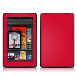 Kindle Fire Skin - Solid State Red