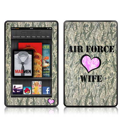 Kindle Fire Skin - Air Force Wife