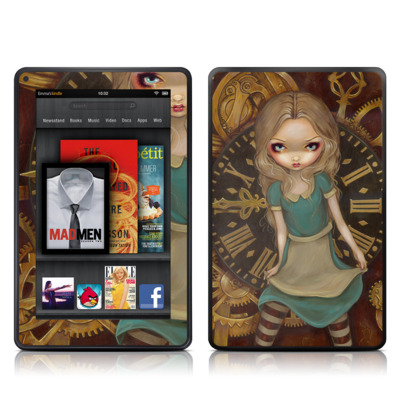 Kindle Fire Skin - Alice Clockwork