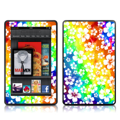 Kindle Fire Skin - Aloha Swirl