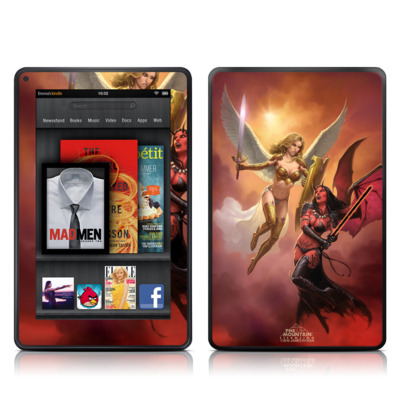 Kindle Fire Skin - Angel vs Demon