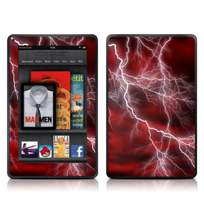 Kindle Fire Skin - Apocalypse Red