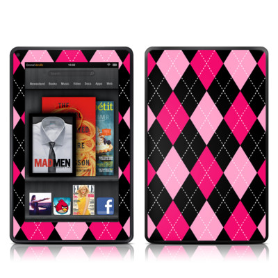 Kindle Fire Skin - Argyle Style