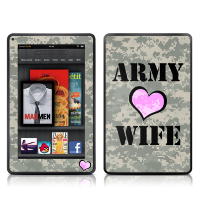 Kindle Fire Skin - Army Wife