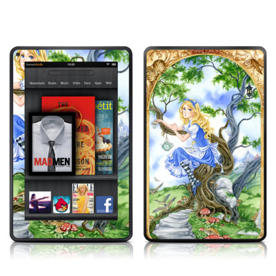 Kindle Fire Skin - Alice's Tea Time