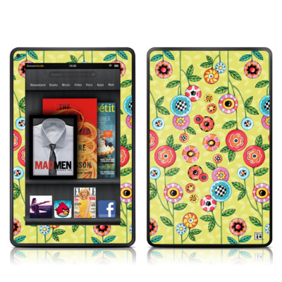 Kindle Fire Skin - Button Flowers