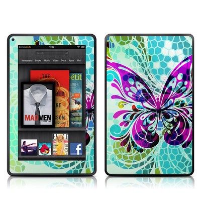 Kindle Fire Skin - Butterfly Glass