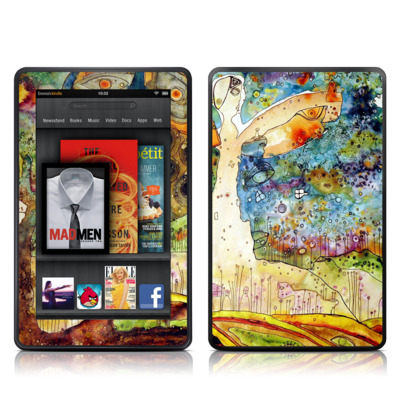 Kindle Fire Skin - Blue Hello