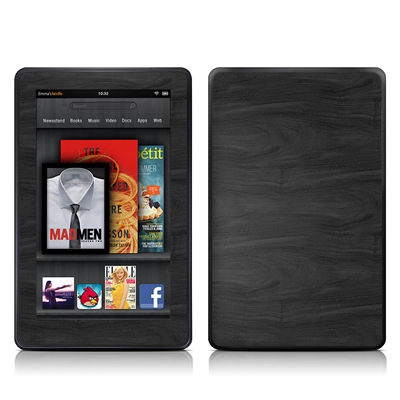 Kindle Fire Skin - Black Woodgrain