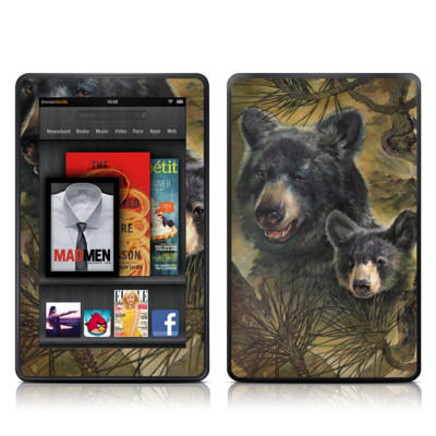 Kindle Fire Skin - Black Bears