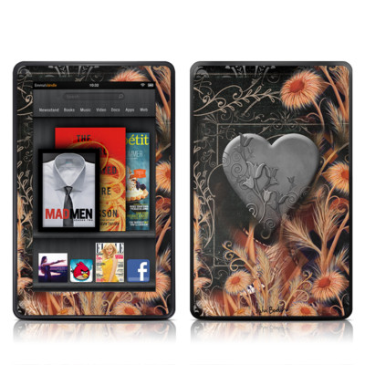 Kindle Fire Skin - Black Lace Flower