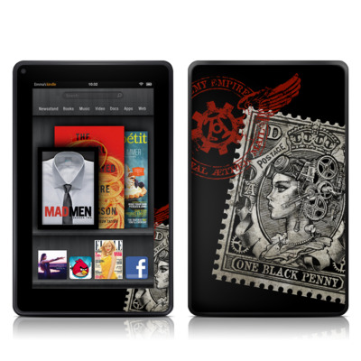 Kindle Fire Skin - Black Penny