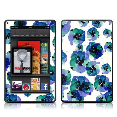 Kindle Fire Skin - Blue Eye Flowers