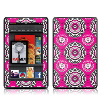 Kindle Fire Skin - Boho Girl Medallions