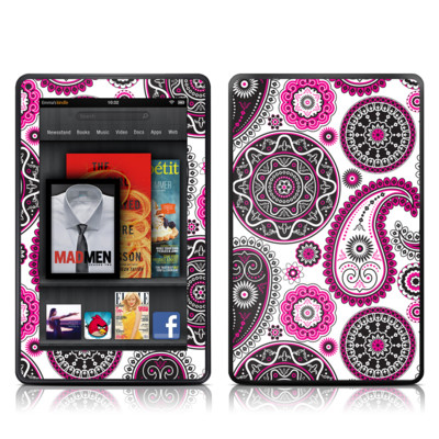 Kindle Fire Skin - Boho Girl Paisley