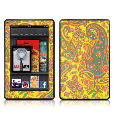 Kindle Fire Skin - Bombay Chartreuse