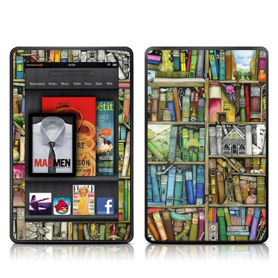 Kindle Fire Skin - Bookshelf