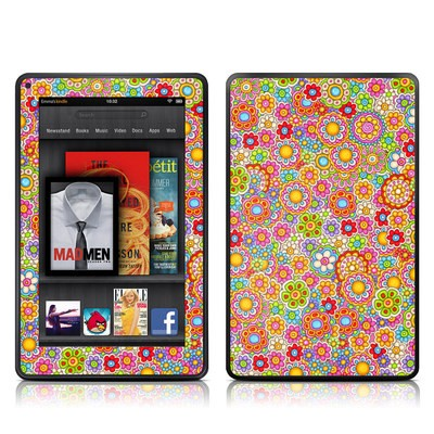 Kindle Fire Skin - Bright Ditzy