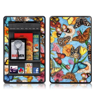 Kindle Fire Skin - Butterfly Land