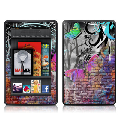 Kindle Fire Skin - Butterfly Wall