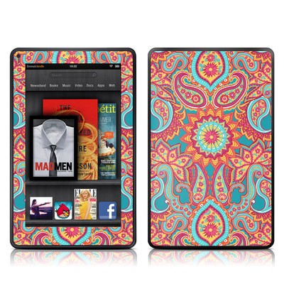 Kindle Fire Skin - Carnival Paisley