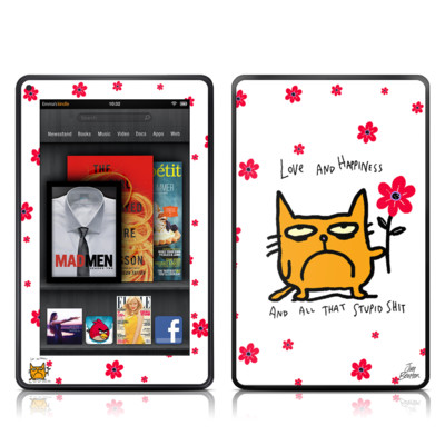 Kindle Fire Skin - Catwad Happy