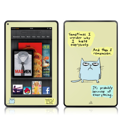 Kindle Fire Skin - Catwad Hate