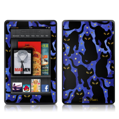 Kindle Fire Skin - Cat Silhouettes