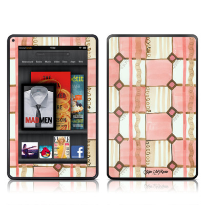 Kindle Fire Skin - Chic Check