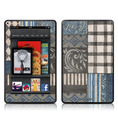 Kindle Fire Skin - Country Chic Blue