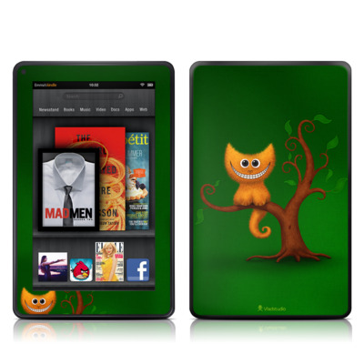 Kindle Fire Skin - Cheshire Kitten