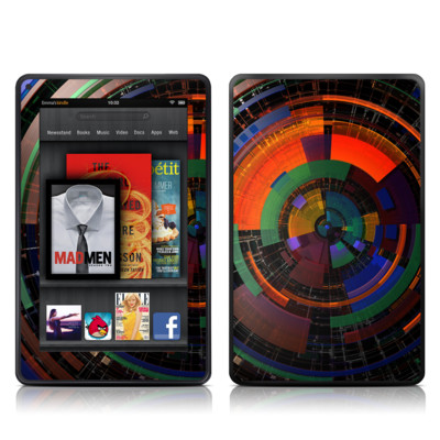Kindle Fire Skin - Color Wheel