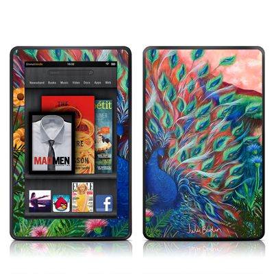 Kindle Fire Skin - Coral Peacock