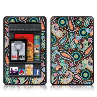 Kindle Fire Skin - Crazy Daisy Paisley