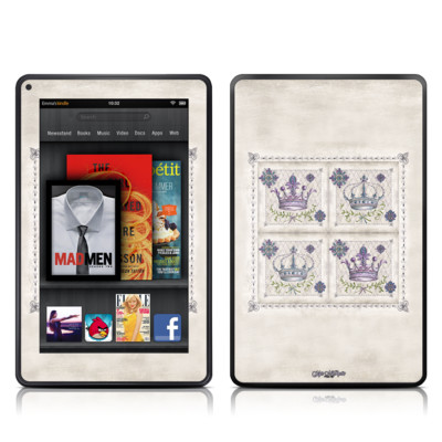 Kindle Fire Skin - Purple Crown
