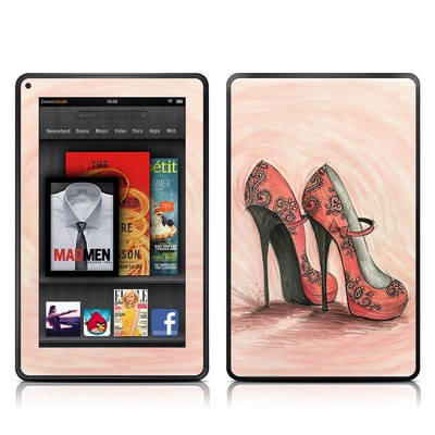 Kindle Fire Skin - Coral Shoes