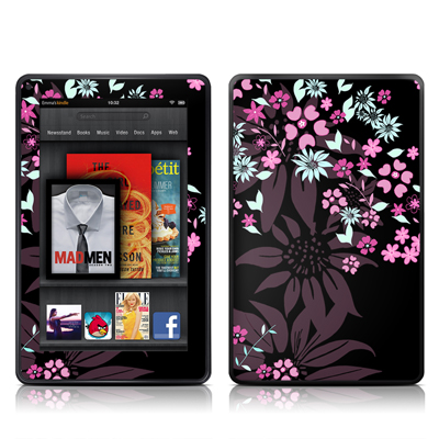 Kindle Fire Skin - Dark Flowers