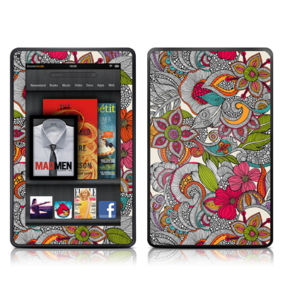 Kindle Fire Skin - Doodles Color