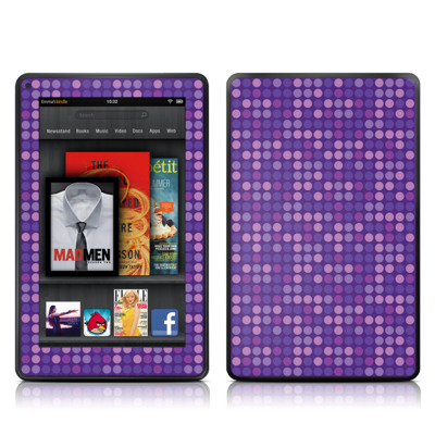 Kindle Fire Skin - Dots Purple