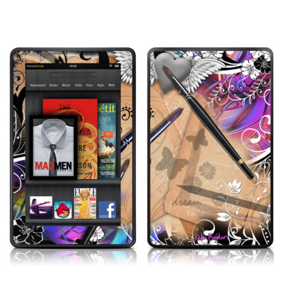 Kindle Fire Skin - Dream Flowers