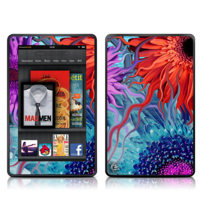 Kindle Fire Skin - Deep Water Daisy Dance