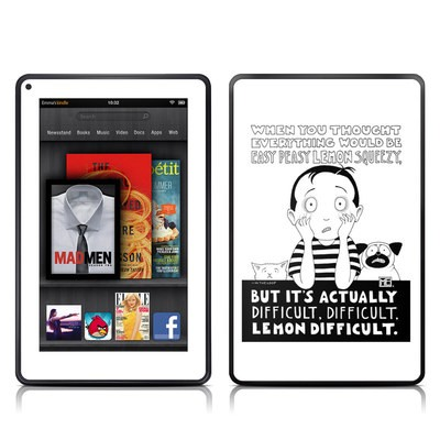 Kindle Fire Skin - Easy Peasy