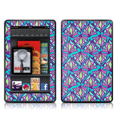 Kindle Fire Skin - Fly Away Teal