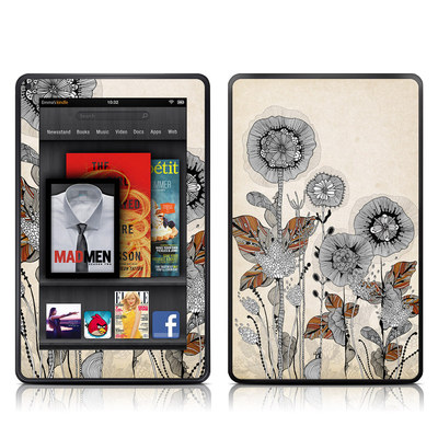 Kindle Fire Skin - Four Flowers